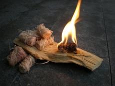 100 Stück Holz Ofen Kohle Anzünder